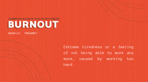 Burnout Dictionary Meaning - e.near nearshore technology solutions