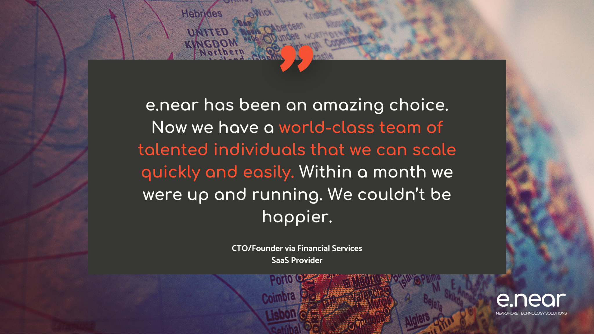 testimonial of an e.near client